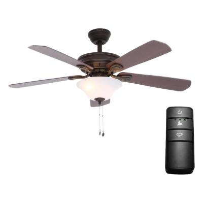 Wellston 44 in. LED Oil-Rubbed Bronze Ceiling Fan with Light Kit and Remote Control