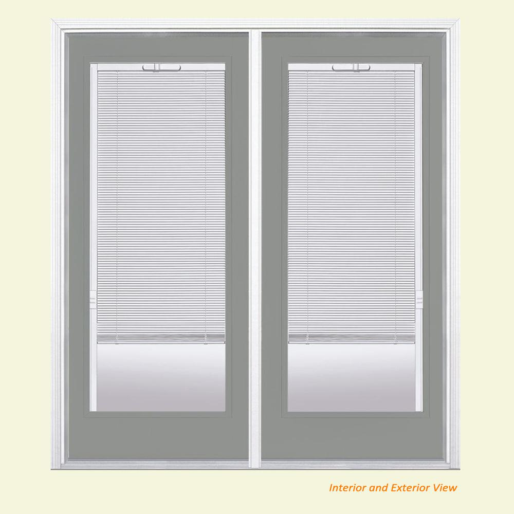 Masonite 72 in. x 80 in. Silver Cloud Prehung Right-Hand Inswing ...