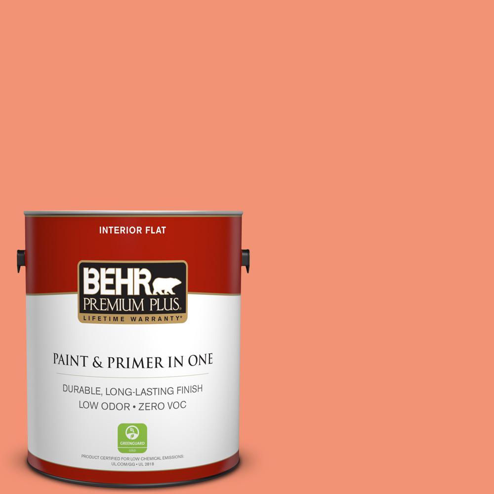 BEHR Premium Plus 1-gal. #200B-5 Indian Dance Zero VOC Flat Interior Paint