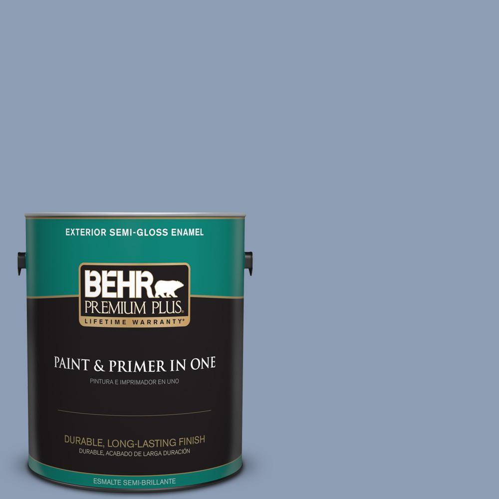 1 gal. #PPU15-10 China Silk Semi-Gloss Enamel Exterior Paint