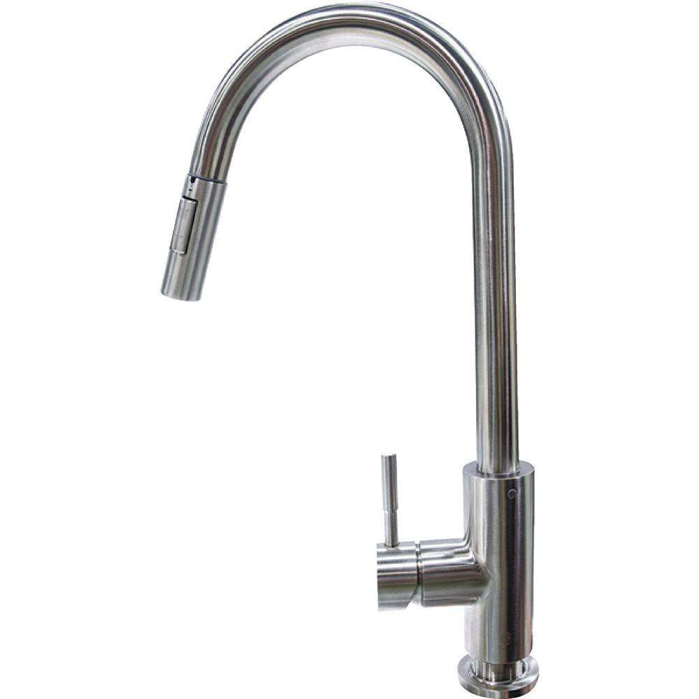 lippert flow max rv kitchen faucet - bullet pull down