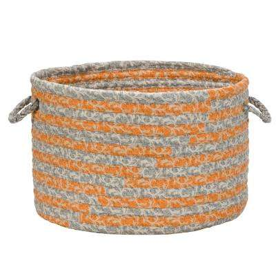12 in. x 12 in. x 8 in. Burnt Amber Soft Corded Round Fabric Basket