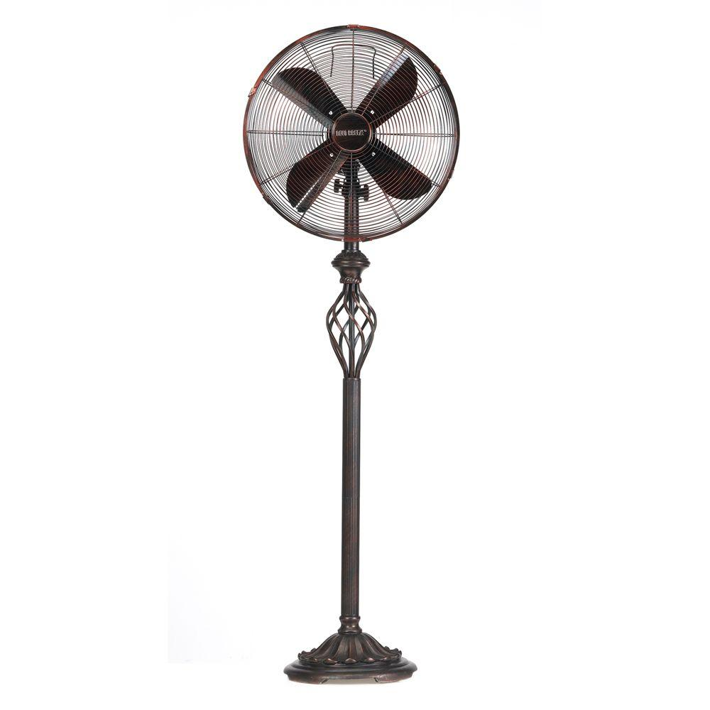 16 in. Prestige Rustica Deco Standing Floor Fan
