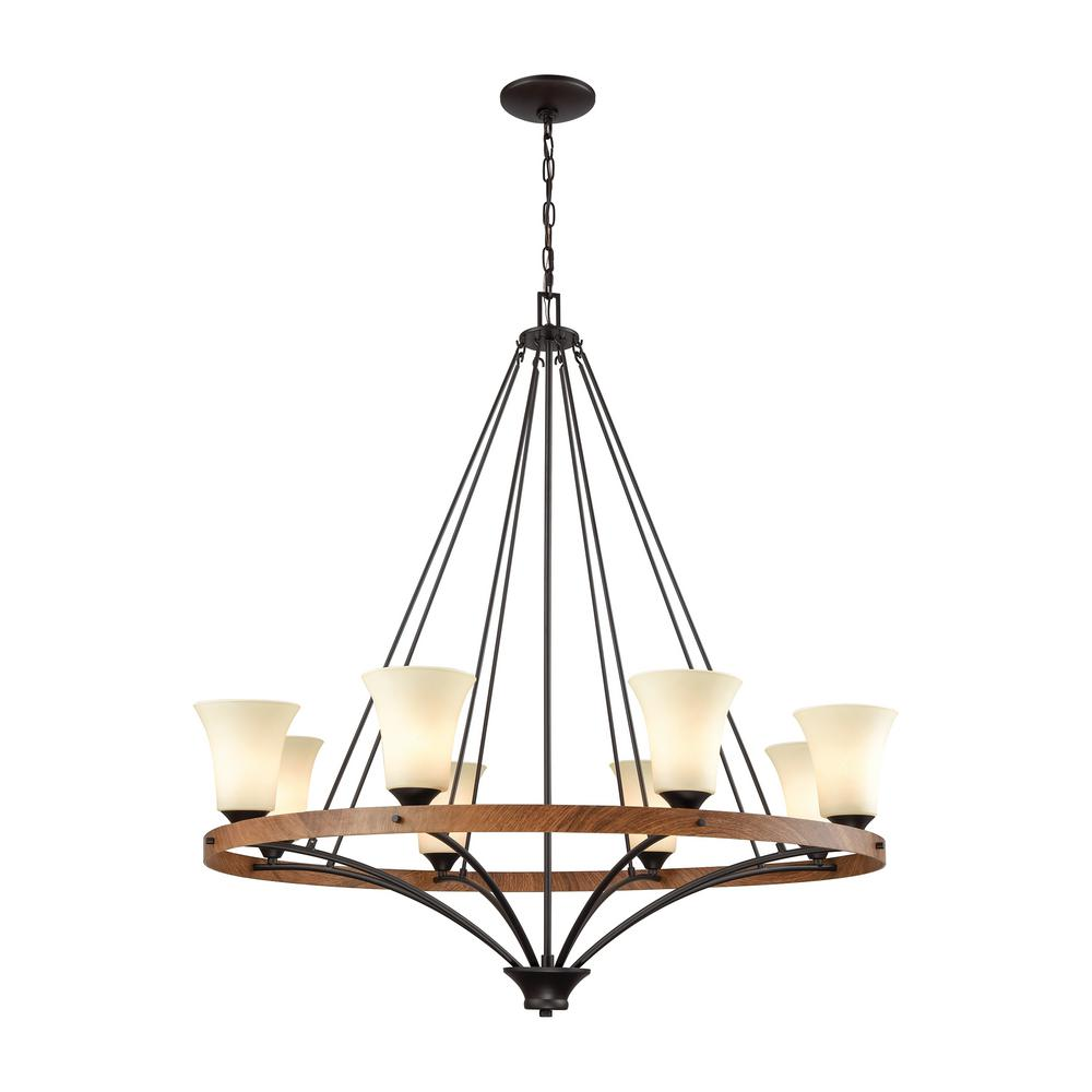 Thomas Lighting Park City 8-Light Oil Rubbed Bronze And
