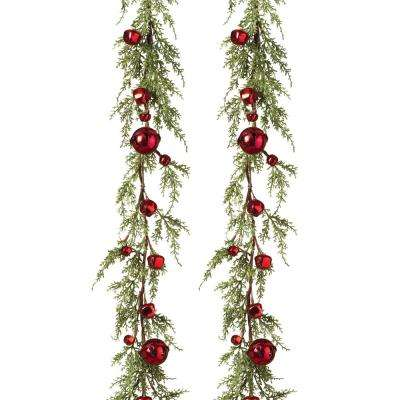 S/2 5 ft. L Cedar Holiday Garlands