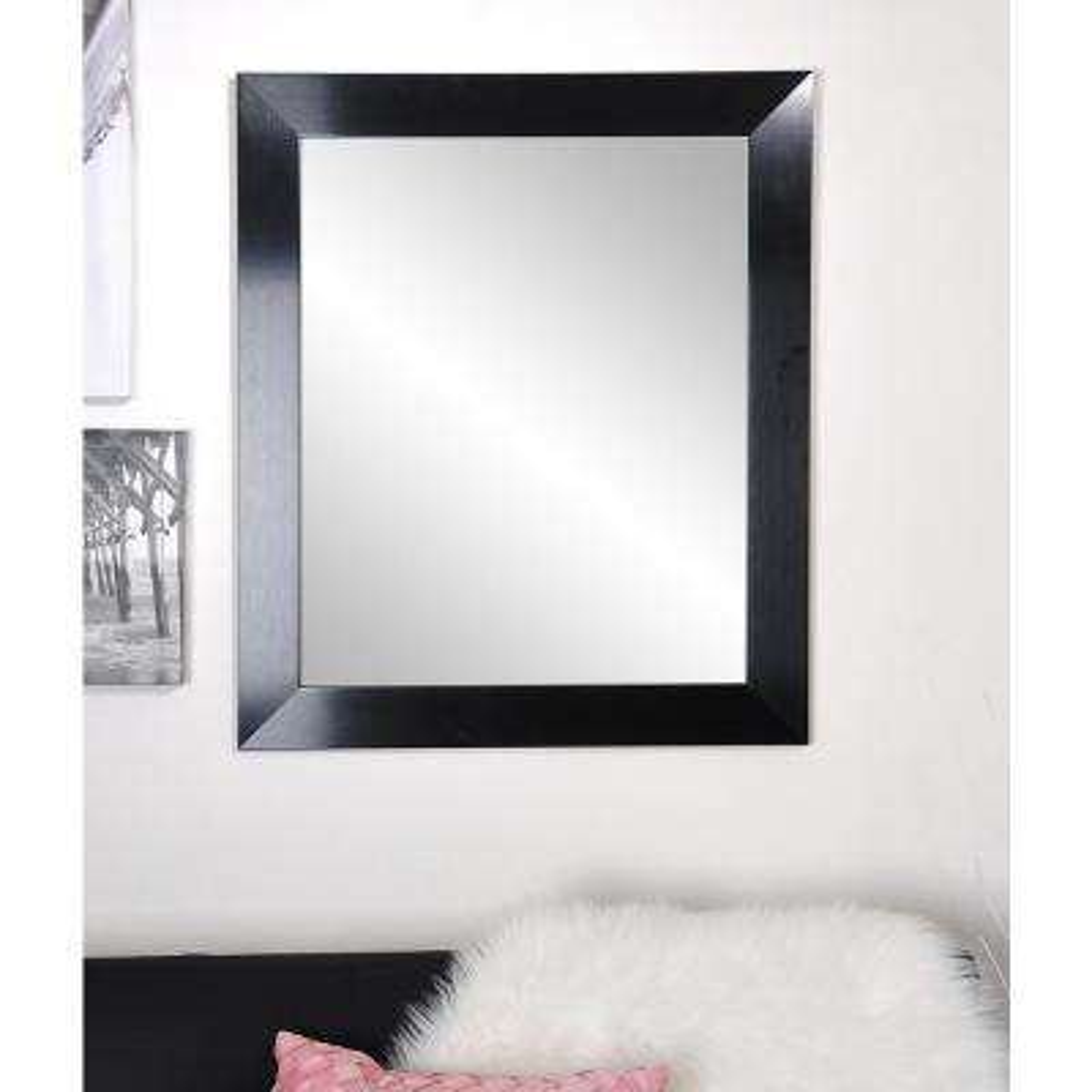 Black Satin 32 in. x 55 in. Accent Mirror