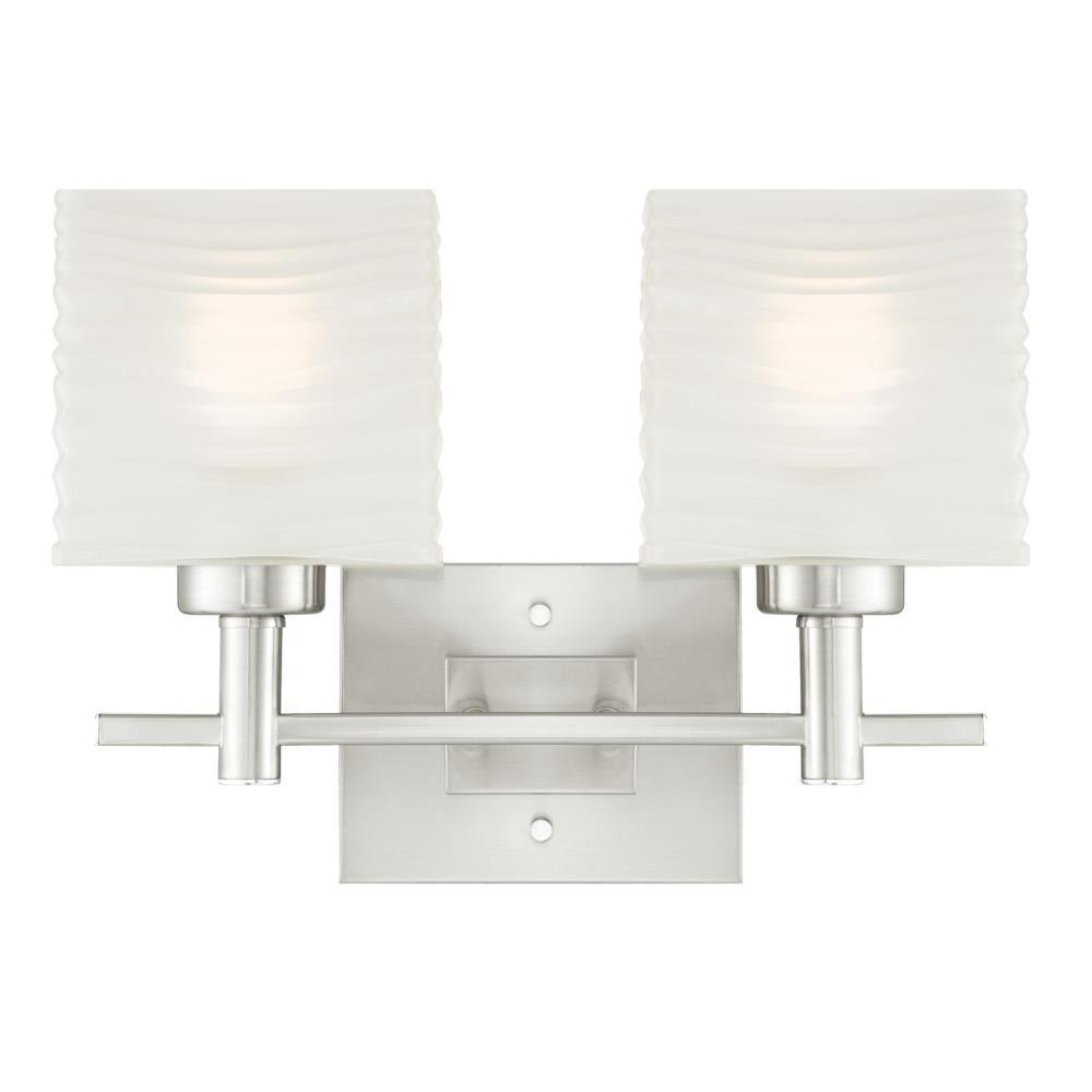 Westinghouse Alexander 2 Light Brushed Nickel Wall Mount Bath