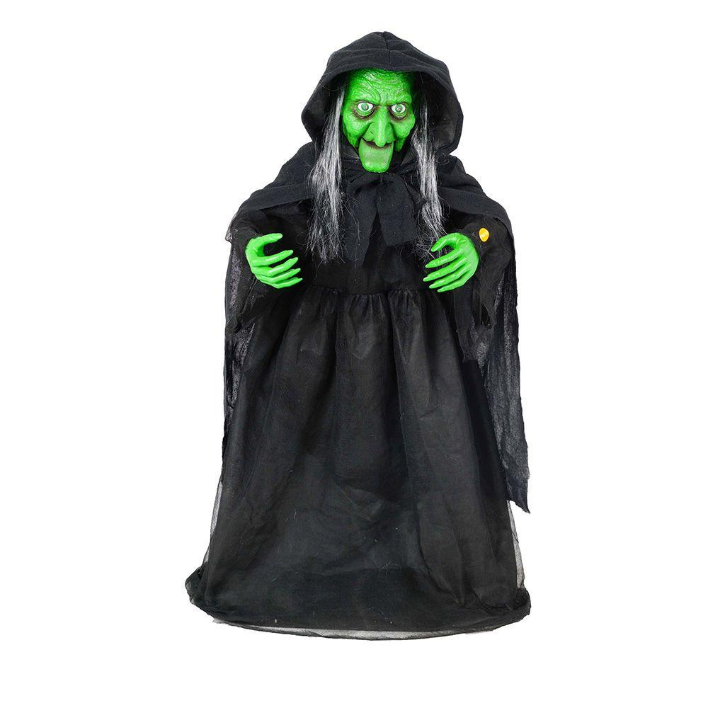 Moving Halloween Decorations: Home Accents Holiday 36 In. Animated Halloween Witch With