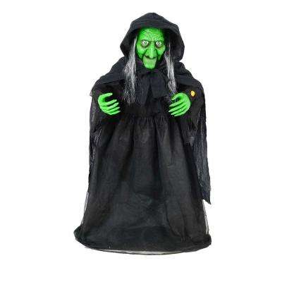 36 in. Animated Halloween Witch with Animated Moving Jaw