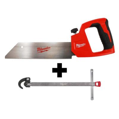 12 in. PVC/ABS Saw with 1.25 in. Basin Wrench