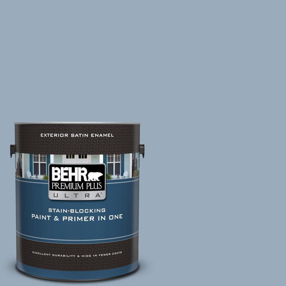 570f 4 Blue Willow Satin Enamel Exterior Paint And Primer In One