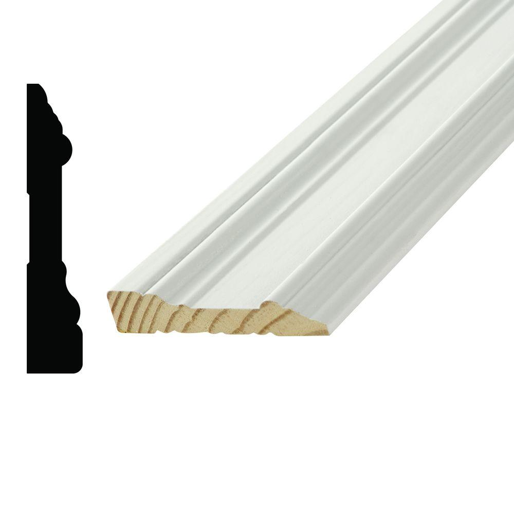 Alexandria Moulding WP07715 11/16 in. x 3-1/2 in. Primed Pine Finger-Jointed Casing