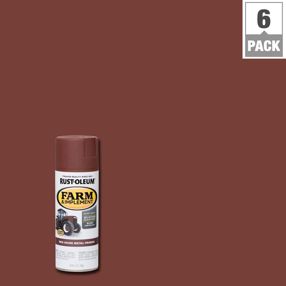 12 oz. Farm Equipment Red Oxide Metal Primer Spray (6-Pack)
