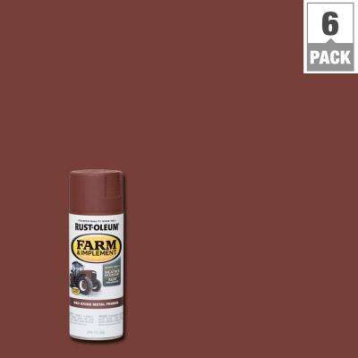 12 oz. Farm and Implement Red Oxide Metal Primer Spray Paint (6-Pack)