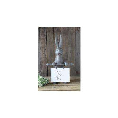 21 in. H x 9.5 in. W Bunny Ceramic Message Board