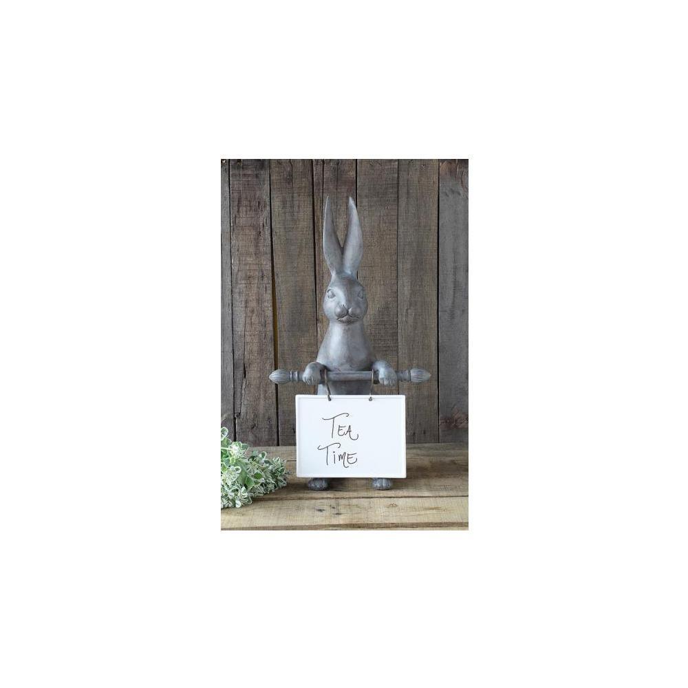 21 in. H x 9.5 in. W Bunny Ceramic Message Board