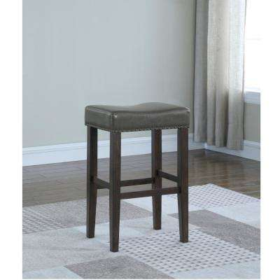 Jersey 24 in. Grey Cushioned Counter Stool