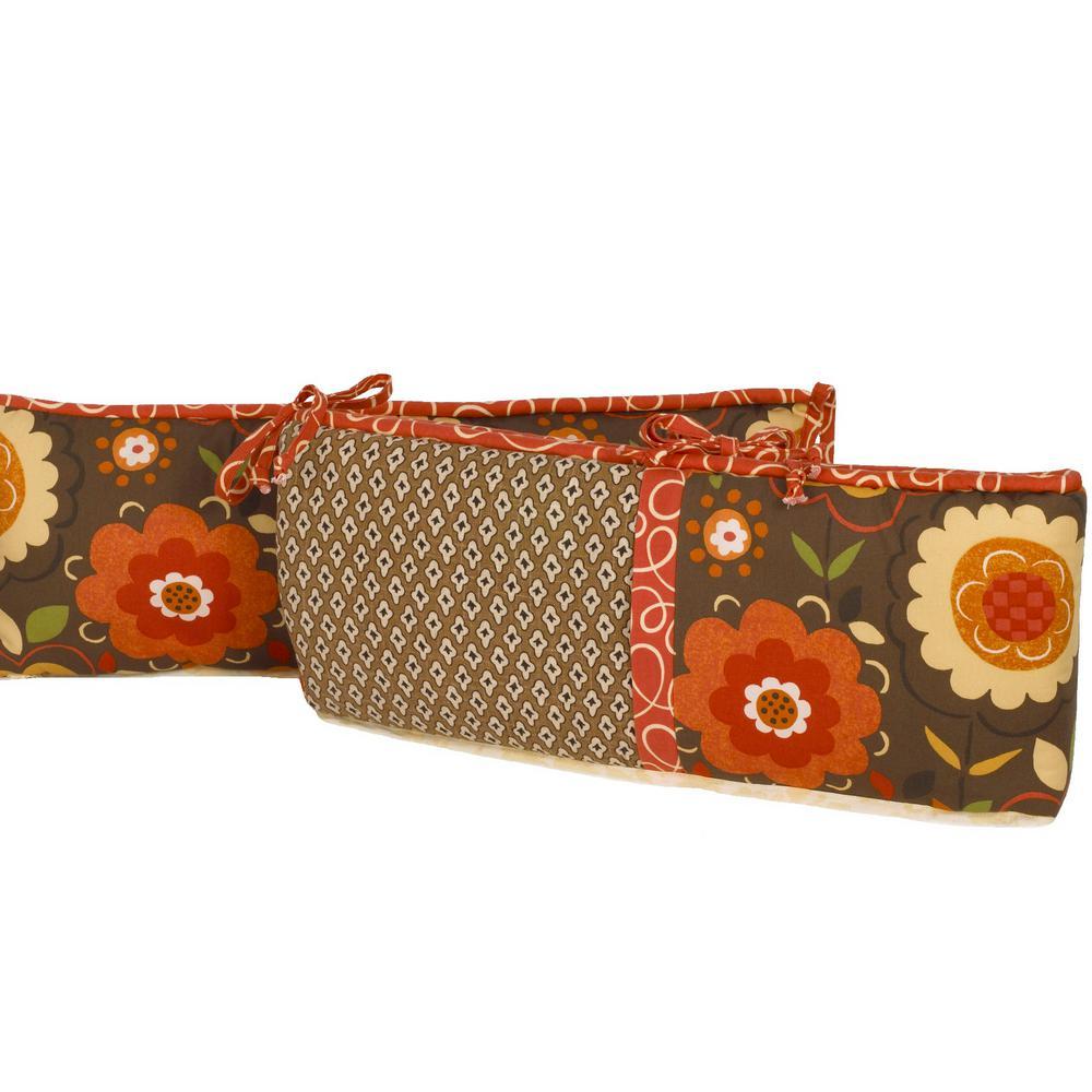 Peggy Sue Cotton 4 Sectional Crib Bumper Pads Cotton