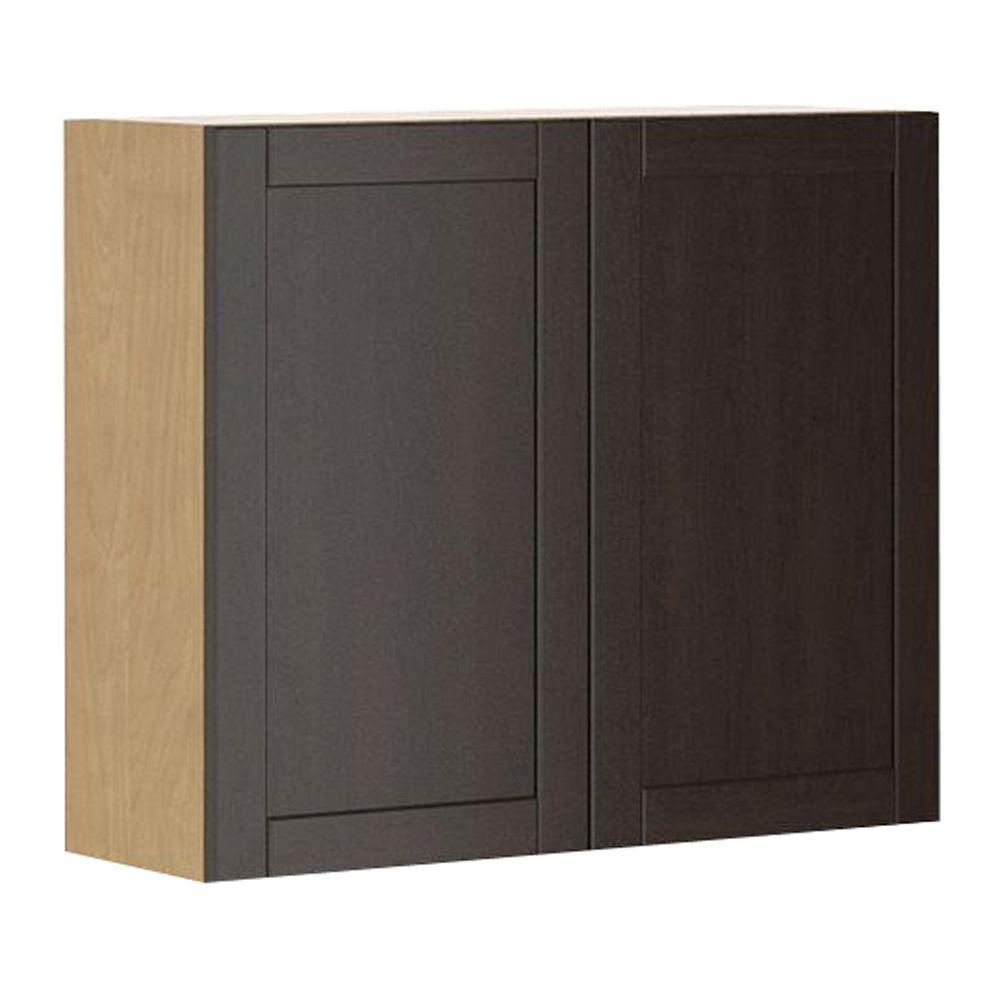 Fabritec Ready to Assemble 36x30x12.5 in. Barcelona Wall Cabinet ...