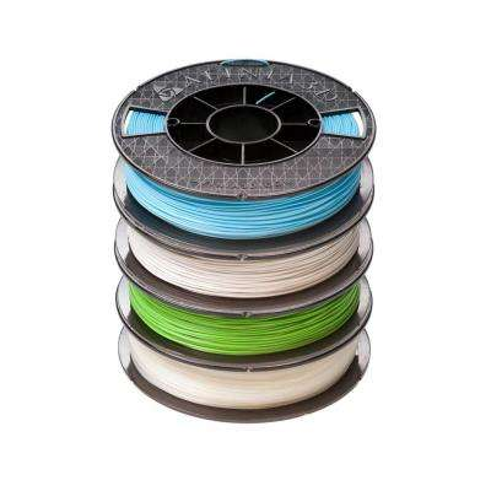 Premium 1.75 mm Gray, Natural, Green, Blue PLA Filament (4-Pack)
