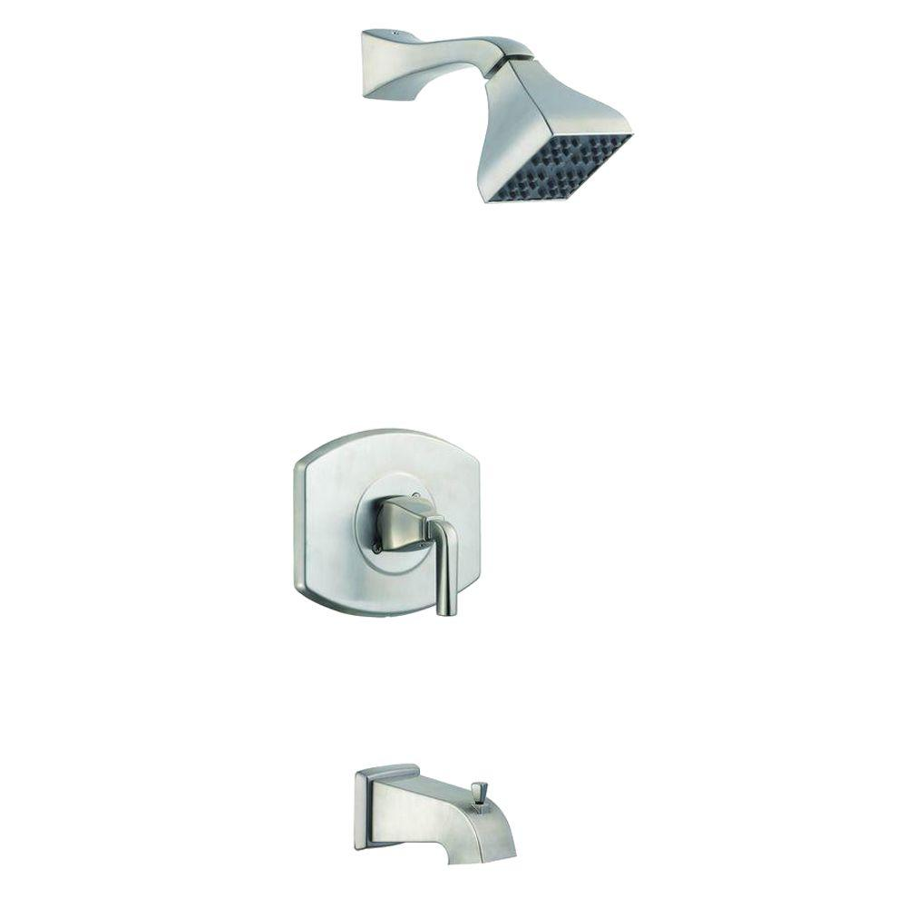 Glacier Bay 12000 Series 1-Handle Tub and Shower Faucet in Brushed Nickel