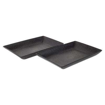 EVO Sustainable Goods Black Eco-Friendly Wood-Plastic Composite Serving Dish Set (Set of 2)