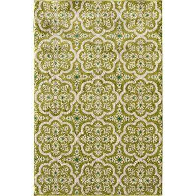 Patio Brights Contoy Green 5 ft. x 7 ft. Indoor/Outdoor Area Rug
