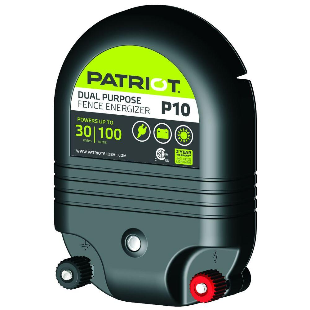 Patriot P10 Dual Purpose Fence Energizer - 1.0 Joule