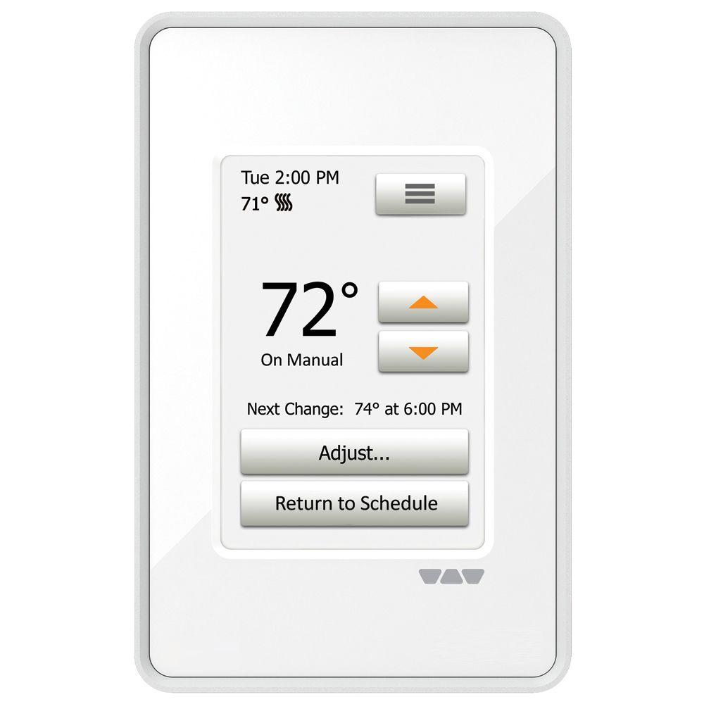 Ditra-Heat Programmable Touchscreen Thermostat, Bright White