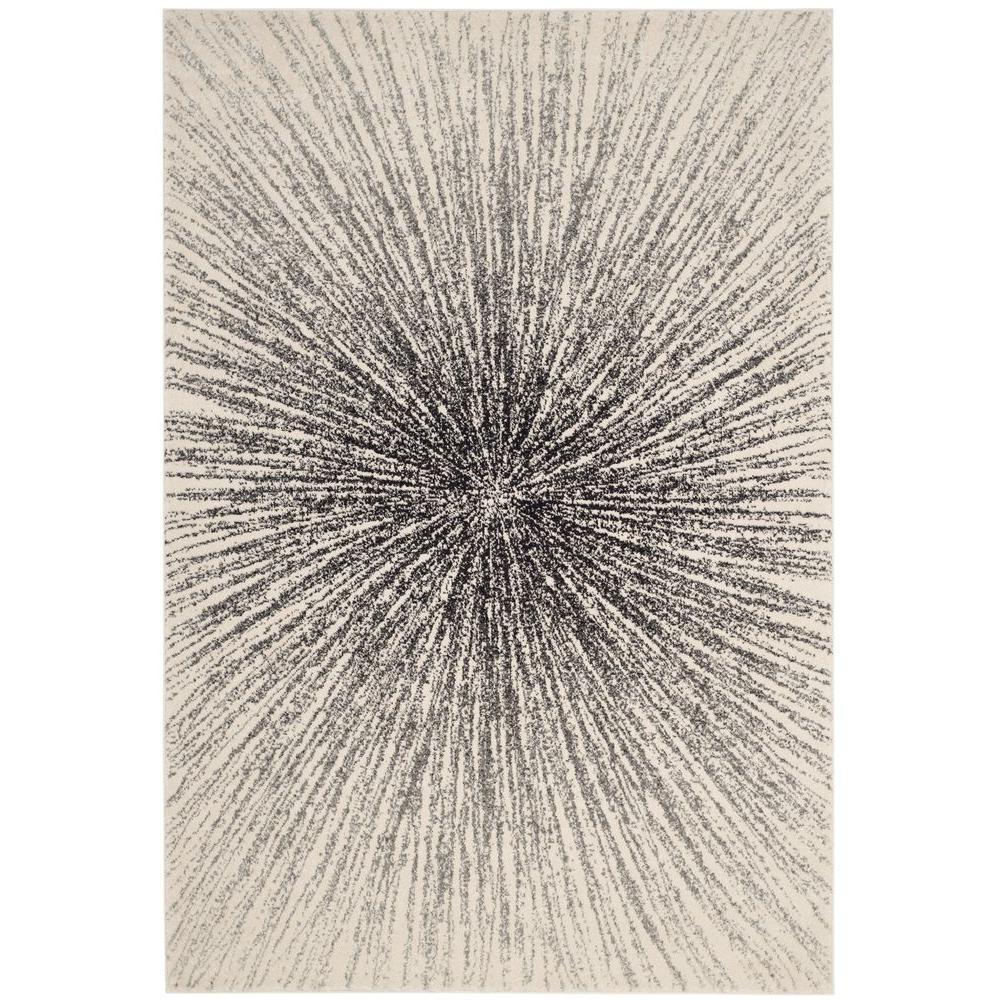 Evoke Black/Ivory 7 ft. x 9 ft. Area Rug
