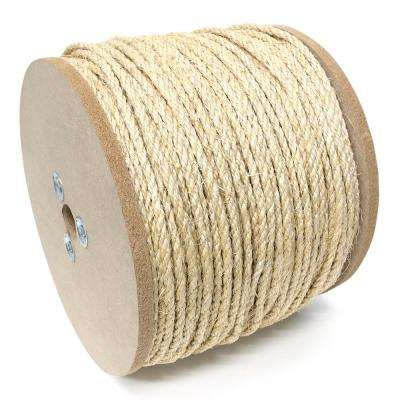 3/8 in. x 600 ft. Sisal Twisted Rope 3-Strand, Natural
