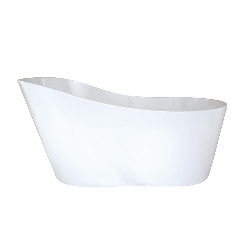 Hydro Systems Rodeo 61 in. Solid Surface Flatbottom Non-Whirlpool Air Bath Bathtub in White