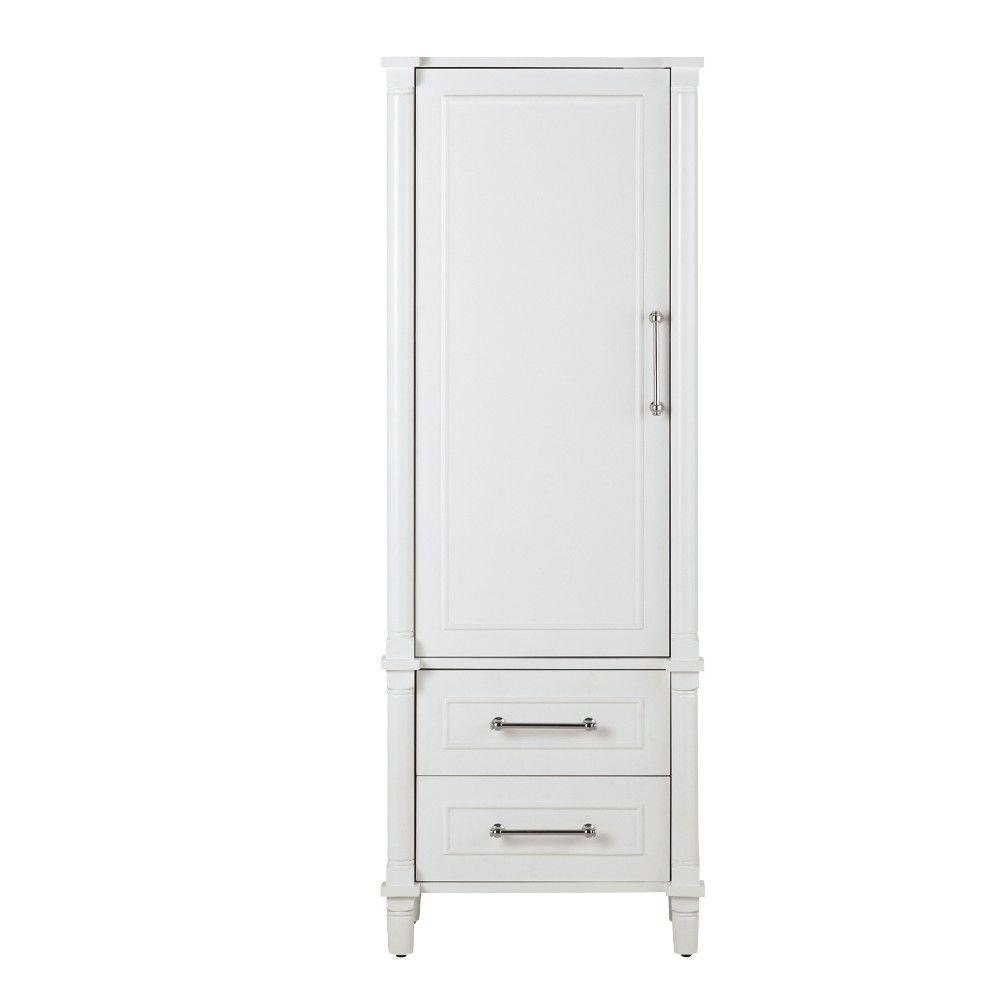 white bathroom linen cabinet home decorators collection aberdeen 20 7 10 in w x 60 in 21434