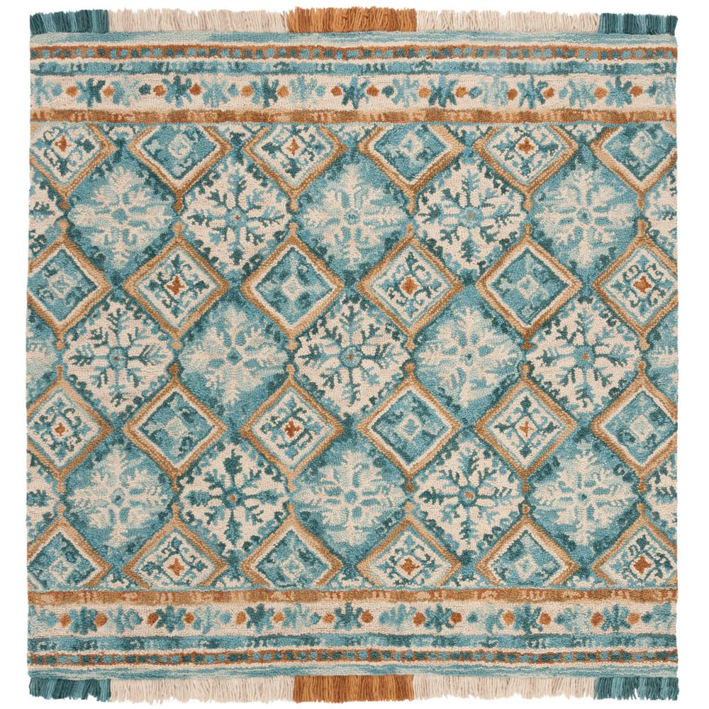 Safavieh Soho Teal/Ivory 6 Ft. X 6 Ft. Square Area Rug
