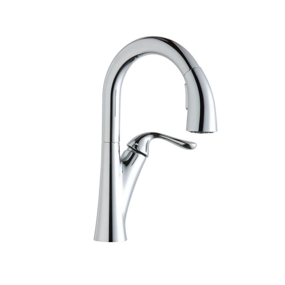 Elkay Harmony Single-Handle Pull-Down Sprayer Bar Faucet in Chrome ...