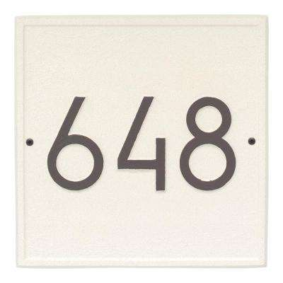 Square Modern Personalized Square Wall Plaque