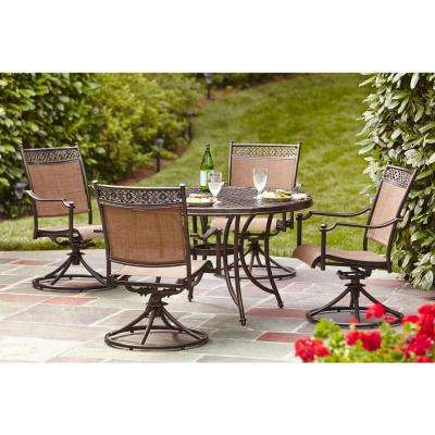Niles Park 5 Piece Sling Patio Dining Set