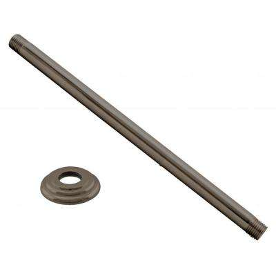 19 in. Ceiling-Mount Shower Arm and Flange in Oil Rubbed Bronze