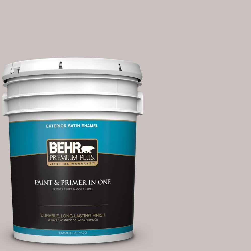 BEHR Premium Plus 5-gal. #N140-2 Chicago Fog Satin Enamel Exterior Paint