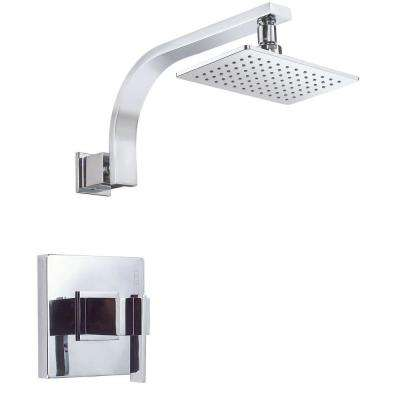 Sirius Single-Handle Pressure Balance Shower Faucet Trim Kit in Chrome (Valve Not Included)