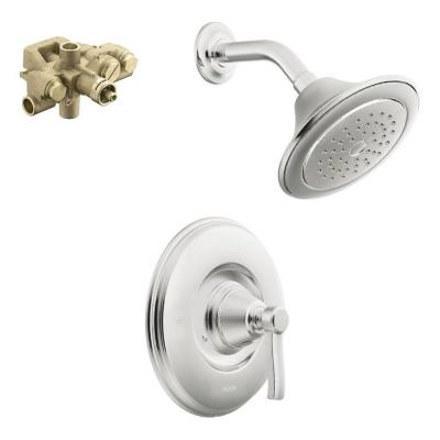 Rothbury Single-Handle 1-Spray Moentrol Shower Faucet Trim Kit with Valve in Chrome (Valve Included)