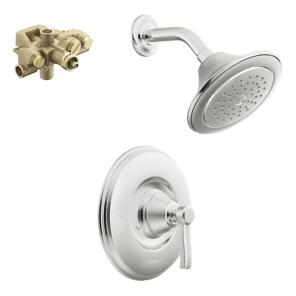 shower head and faucet combo. MOEN Rothbury Single Handle 1 Spray Moentrol Shower Faucet Trim Kit with  Valve in Chrome Included TS3212 3520 The Home Depot