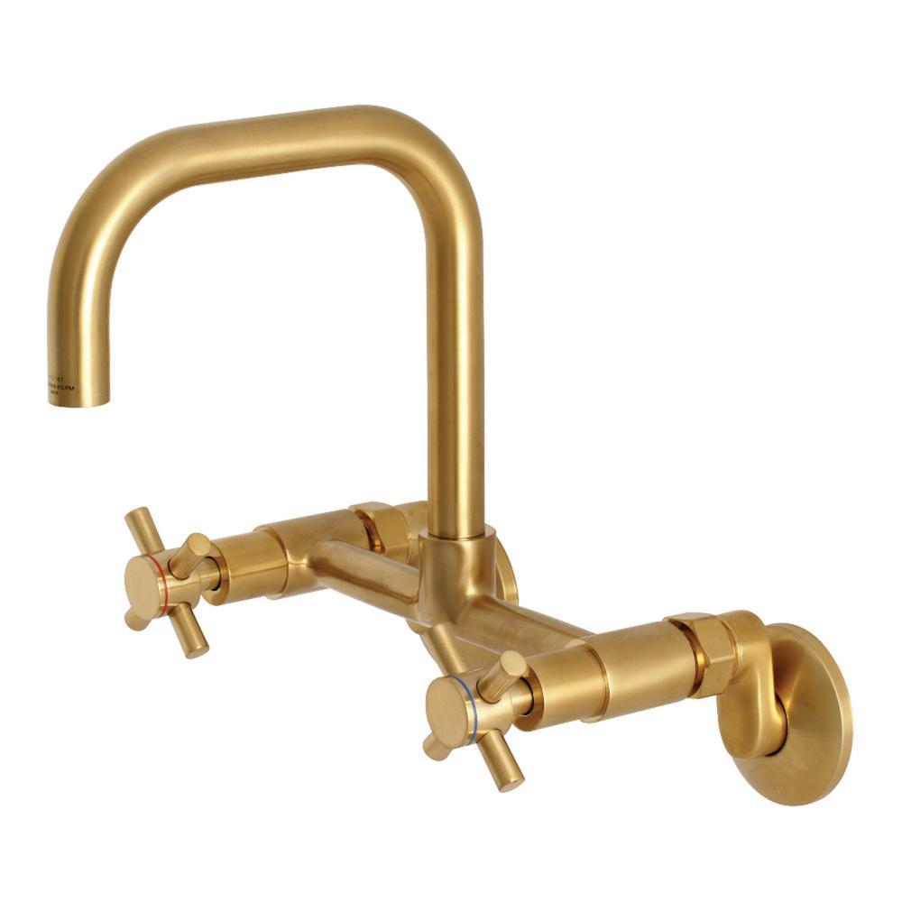 Kingston Brass Austin Adjustable Center 2 Handle Wall Mount Standard