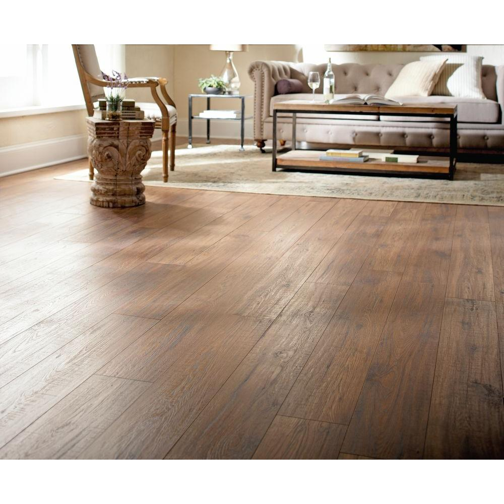 Distressed Brown Hickory 12 Mm Thick