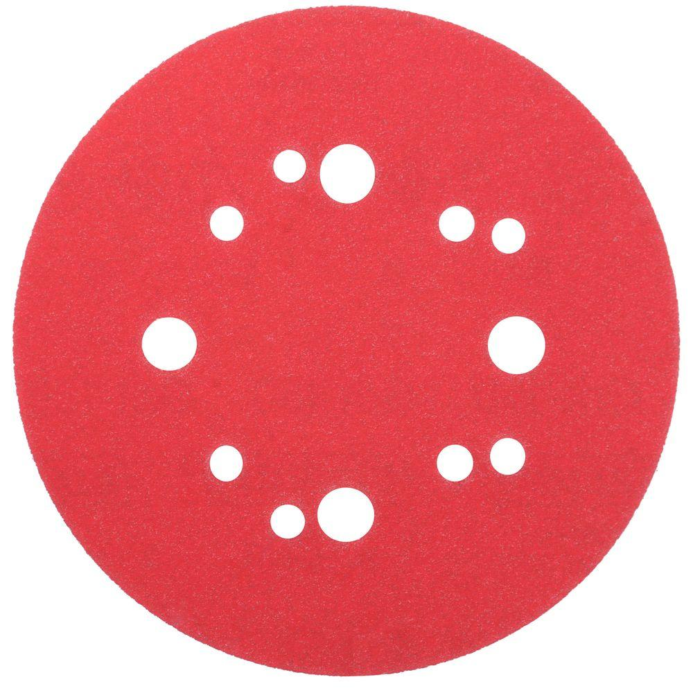 Diablo 5 in. 150-Grit Universal Hole Random Orbital Sanding Disc with Hook and Lock Backing (50-Pack)