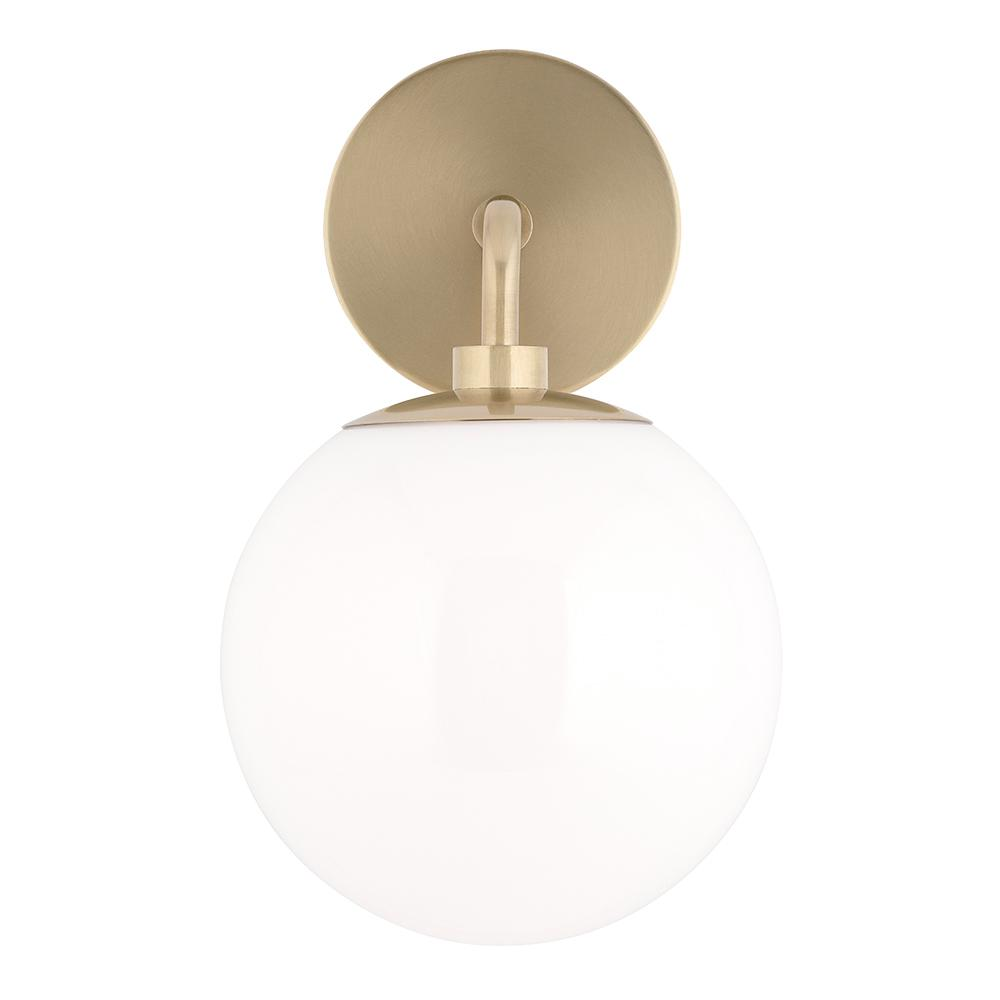 Mitzi by Hudson Valley Lighting Stella 1-Light Aged Brass Wall Sconce with Opal Glossy Glass