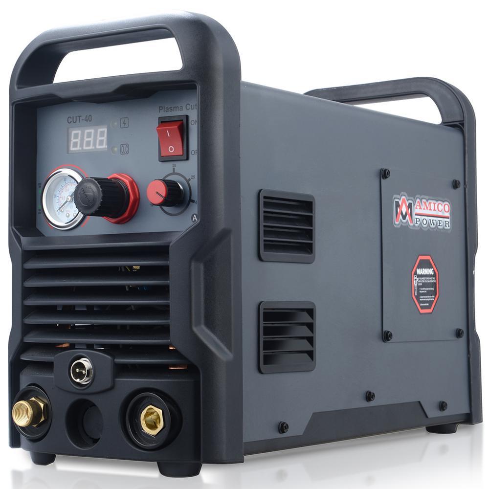 AMICO POWER 40 Amp Plasma Cutter Colossal Tech. 1/2 in. Clean Cut 110/230-Volt Compatible DC Inverter Cutting Machine