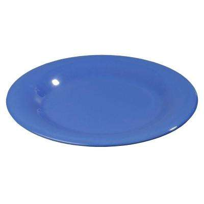 12 in. Diameter Melamine Wide Rim Dinner Plate in Ocean Blue (Case of 12)
