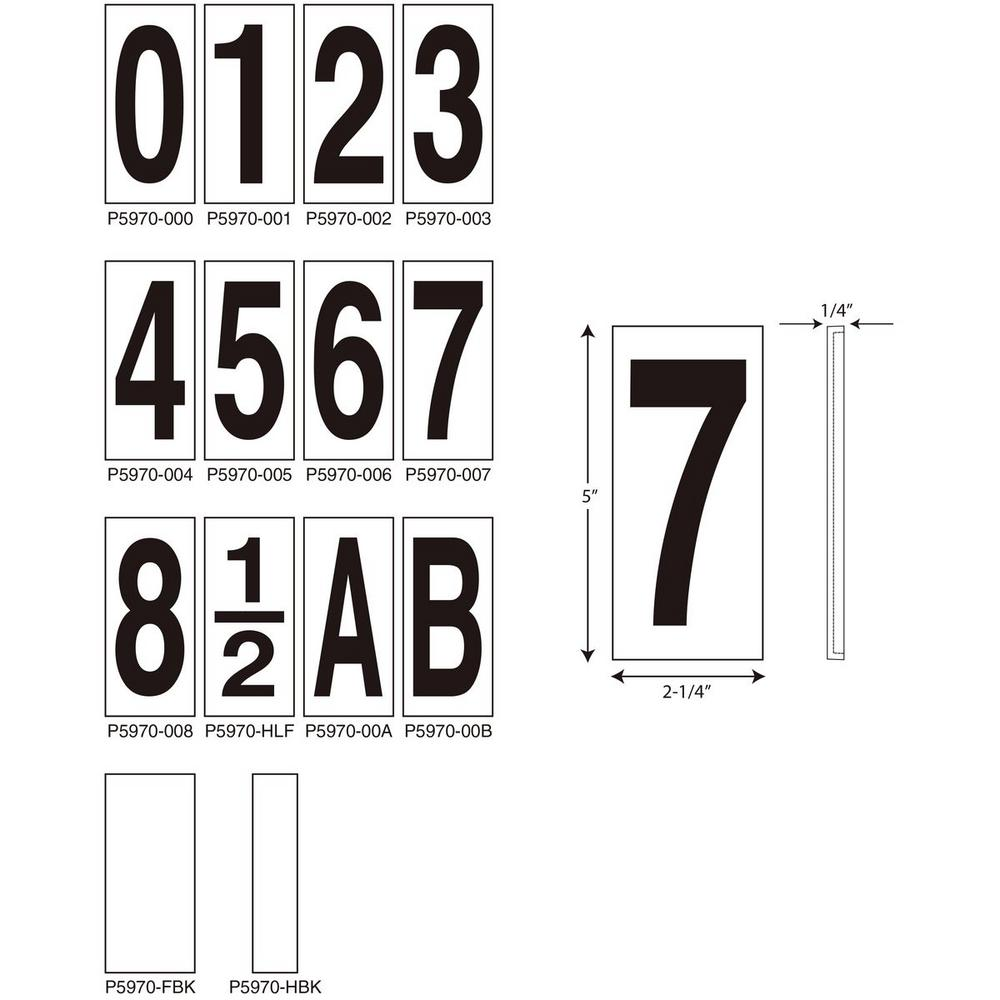 0613be037801 Progress Lighting Address Light Number Tile, No. 8-P5970-008 - The ...