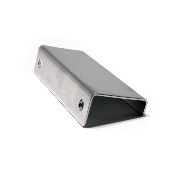 3-1/8 in. (80 mm) Center-to-Center Chrome Stainless Steel Contemporary Edge Pull